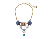 Betsey Johnson Into The Blue Turtle Seashell Necklace Multi Necklace