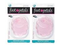 Foot Petals Technogel Tip Toes For Flip Flops 2 Pair Pack Pink Gel Women's Insoles Accessories Shoes Red