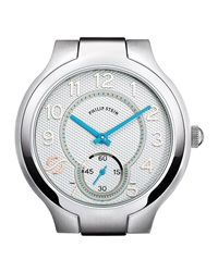 Philip Stein Teslar Philip Stein Stainless Steel Small Round Watch Head White Sky Blue