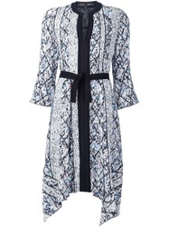 Proenza Schouler Abstract Print Dress White