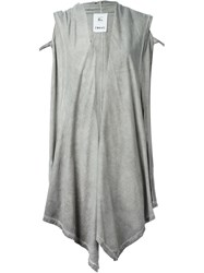 Lost And Found Ria Dunn Hooded Sleeveless Cardigan Coat Grey