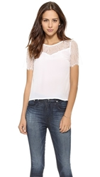 Myne Finn A Line Top With Lace White