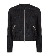 Needle And Thread Embroidered Blossom Bomber Jacket Female Black