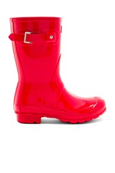 Hunter Original Short Gloss Boot Coral