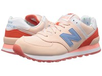 New Balance Wl574v1 Shell Pink Coral Glow Women's Running Shoes