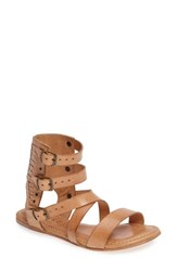 Baske California Women's Toro Gladiator Sandal Tan Leather