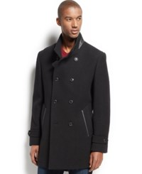 Inc International Concepts Ted Wool Blend Coat Black