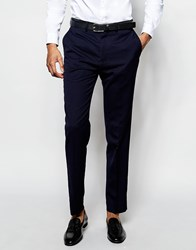 French Connection Slim Fit Tuxedo Trouser Navy