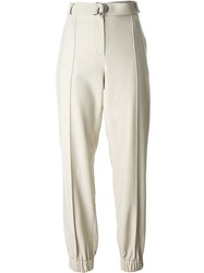 Kenzo Cuffed Tapered Trousers Nude And Neutrals