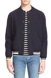 Men's A.P.C. Cotton And Wool Baseball Jacket