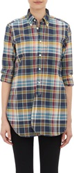 Engineered Garments Madras Shirt Blue Size 1 2 Us