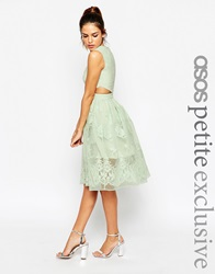Asos Petite Prom Dress With Floral Embroidery And Cutout Detail Mint