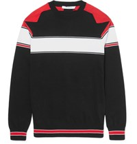 Givenchy Striped Cotton Sweater Black