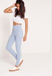 Missguided High Waisted Jeggings Blue Blue