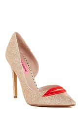 Betsey Johnson Kissez Half D'orsay Pump Metallic