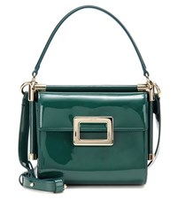 Roger Vivier Miss Viv' Carre Mini Patent Leather Shoulder Bag Green