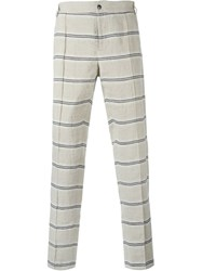 Soulland 'Kreuzberg' Striped Trousers Nude And Neutrals
