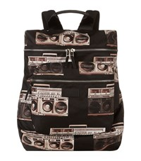 Paul Smith Accessories Stereo Print Backpack Unisex Black