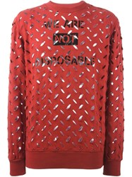 Vivienne Westwood Anglomania Perforated Sweatshirt Red