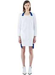 Acne Studios Rahima Poplin Contrast Strap Dress White