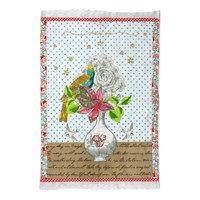 Pip Studio White Flower Vase Tea Towel 50X70cm