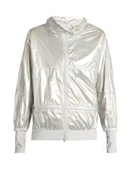 Adidas By Stella Mccartney Run Metallic Performance Jacket Silver