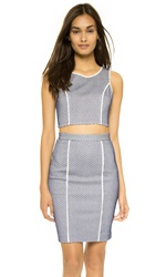 Rebecca Minkoff Zoey Crop Top White Brazil Blue