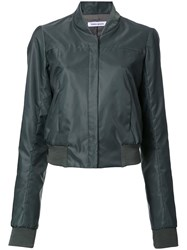 Bianca Spender Cropped Bomber Style Jacket Green