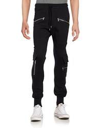 Markus Lupfer Ryan Zip Accented Jogger Pants Black
