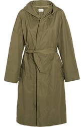 Etoile Isabel Marant Daker Shell Trench Coat Army Green