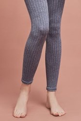 Anthropologie Marlie Ribbed Footless Tights Blue