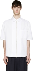 Umit Benan White Zip Up Shirt