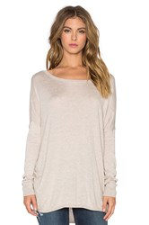 Splendid Cashmere Blend Cinched Sweater Gray
