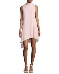 Camilla And Marc Sleeveless High Neck Asymmetric Cocktail Dress Women's Chalk Pink