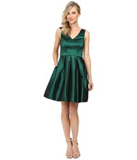 Jessica Simpson Taffeta Fit Flare Dress Emerald Women's Dress Green