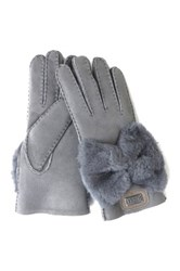 Australia Luxe Collective Bowie Genuine Shearling Gloves Gray