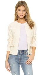 Anine Bing Embroidered Jacket Cream