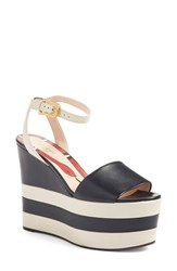 Gucci Women's 'Sally' Platform Sandal Navy Leather
