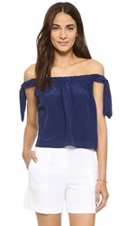 Club Monaco Nadina Top Bayou Blue