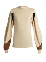 Toga Balloon Sleeved Wool Sweater Ivory