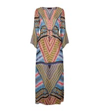 Hale Bob Printed Embellished Silk Long Kaftan Female Multi