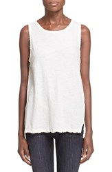 Women's Current Elliott 'The Muscle Tee' Sleeveless Top Dirty White Satellite