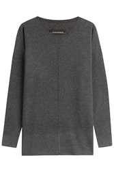 By Malene Birger Wool Cashmere Oversized Pullover Grey
