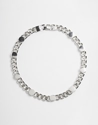 Asos Circle Curb Chain Necklace Silver