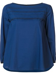 Odeeh Stitch Detail Blouse Blue