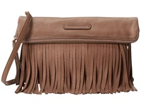 Frye Heidi Fringe Crossbody Grey Soft Vintage Leather Cross Body Handbags Taupe