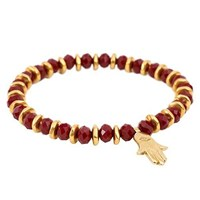 Eye Of The Sea Bead Hamsa Bracelet Gold