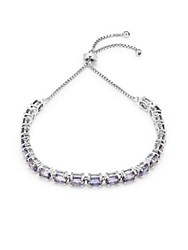 Saks Fifth Avenue Iiolite Stone And Sterling Silver Bracelet