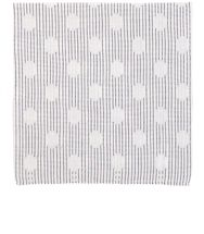 Simonnot Godard Men's Polka Dot And Striped Pocket Square White
