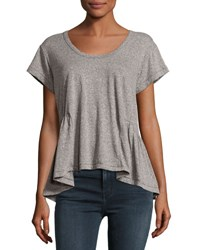 Current Elliott The Girlie Tee Heather Gray